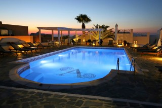 facilities aethrio hotel pool and sunset