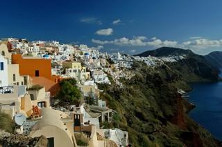 oia village aethrio hotel caldera view