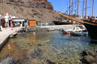 santorini excursion aethrio hotel boats