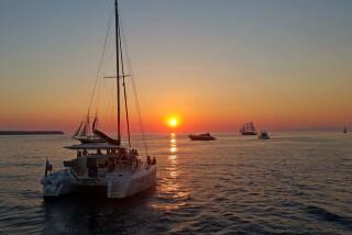 santorini excursion aethrio hotel catamaran sunset