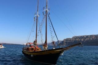 santorini excursion aethrio hotel sailing