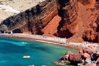 santorini island aethrio hotel red beach