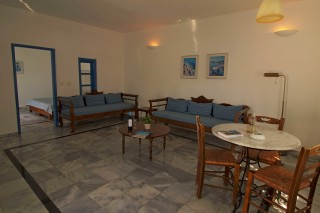 superior room aethrio hotel living room